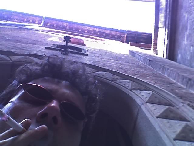Me, smoking